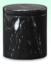大理石骨壺 黒大理石 陶器 骨壷