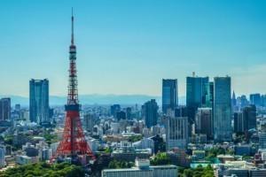 東京タワー 晴天 高層ビル 世界貿易センタービル シーサイドトップ 東京の街並み