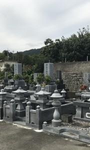 阿波市営 北正広墓地-墓-通常区画全体 墓石 墓地 霊園 石材