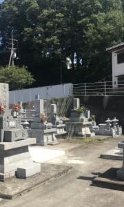 美馬市営 猪尻墓地-墓-通常区画全体、お墓、墓地、霊園、墓石、石材、敷石、お寺