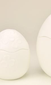 卵型骨壷 骨壷 白色 陶器