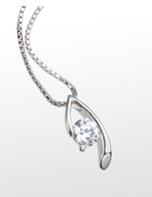 ダイヤモンド加工 ダイヤモンド ネックレス ジュエリー シルバー